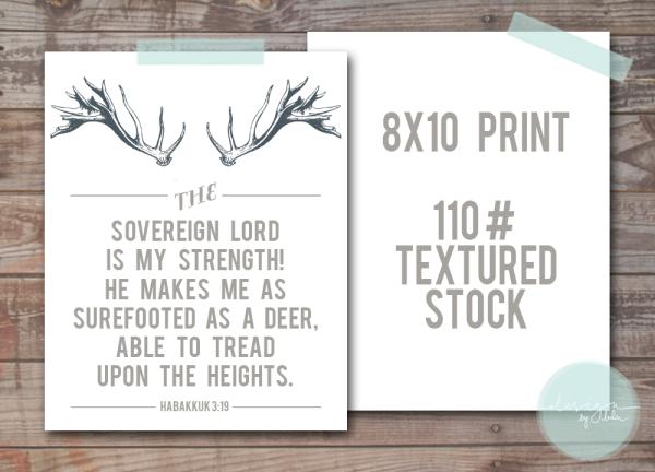 Deer Print Template