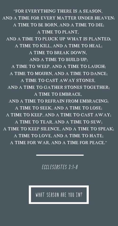 Ecclesiastes 3,1-8